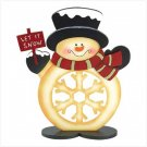 CHEERFUL SNOWMAN FIGURINE