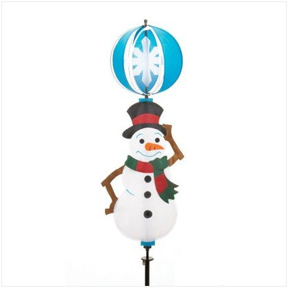3D SPINNING SNOWMAN YARD DECORATION