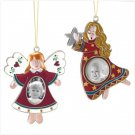 PEWTER ANGEL PICTURE FRAME ORNAMENTS