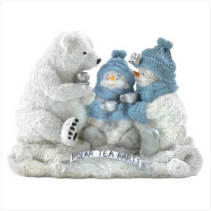 SNOWBUDDIES POLAR TEA PARTY FIGURINE