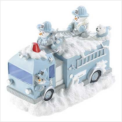 SNOWBUDDIES FIRE TRUCK FIGURINE