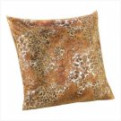 METALLIC LEOPARD PILLOW