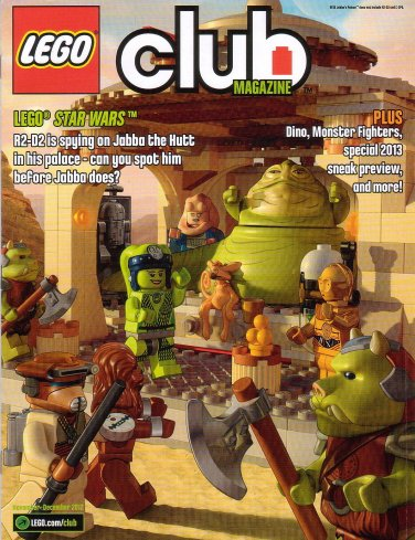 Lego Club Magazine Star Wars Jabba The Hutt November December 2012