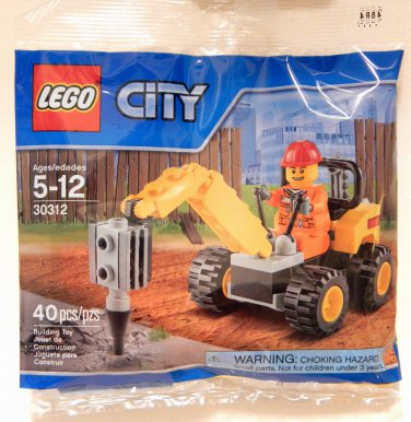 Lego Town City Demolition Driller Promo Set #30312 Polybag NEW - 2015