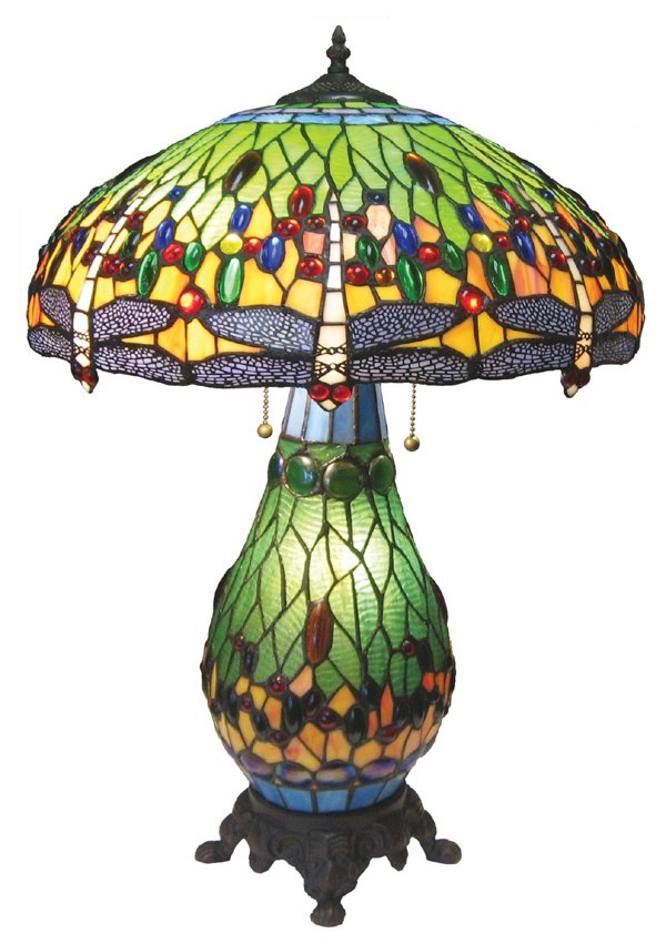 Classic Green Dragonfly Tiffany Style LampTable Lamp