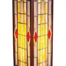 Mission Design Pedestal Tiffany Styled Lamp
