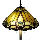 Contemporary Golden Victorian Tiffany Style Floor  Lamp