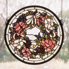 Floral Wreath Window Panel