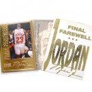Michael Jordan Career Gold Foil Card - #23 - Farewell