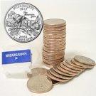 2002 Mississippi Quarter Roll - Philadelphia Mint