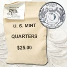 1999 Georgia $ 25 Government Bag D Mint Quarters