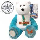 1999 Limited Treasures Quarter Bear - Delaware