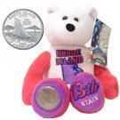2001 Limited Treasures Quarter Bear - Rhode Island