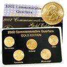 2002 Quarter Mania Uncirculated Set - Gold - P Mint