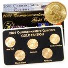 2001 Quarter Mania Uncirculated Set - Gold - D Mint