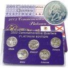 2003 Quarter Mania Uncirculated Set - Platinum D Mint