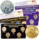 2004 Quarter Mania Precious Metal Set - Gold P / Plat D