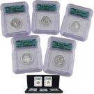 2004 Silver Quarter Proof Set - Certified 70