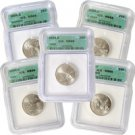 2004 Set of 5 Quarters - Denver Mint Certified 66
