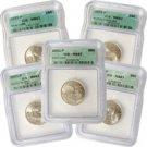 2001 Set of 5 Quarters - Philadelphia Mint Certified 67
