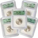 2003 Set of 5 Quarters - Philadelphia Mint Certified 67