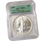 1988 Silver Eagle Certified 69 - Uncirculated