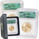 2005 Sacagawea Dollar Set P & D Mints - ICG Cert 67