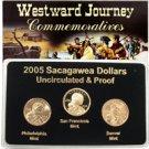 2005 Sacagawea Dollar - P/D/S Mint Set