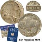 1913 Variety II Buffalo Nickel - San Francisco Mint