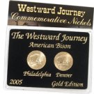 2005 Westward Buffalo Nickels - Gold 2 pc Set