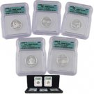 2005 Silver Quarter Proof Set - Certified 69