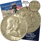 1957 Franklin Half Dollar - Denver - Circulated