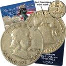 1949 Franklin Half Dollar - San Francisco - Circulated