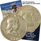 1954 Franklin Half Dollar - Philadelphia - Circulated