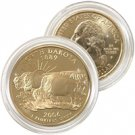 2006 North Dakota 24 Karat Gold Quarter - Philadelphia