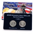 2005 Kennedy Half Dollar P & D Set - Satin Finish