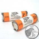 2007 Idaho Quarters - Government Wrapped - Philadelphia & Denver Mint Roll Pair