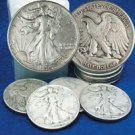 Walking Liberty Half Dollar Roll of 10 - Circulated