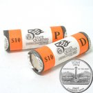 2007 Utah Quarters - Government Wrapped - Philadelphia & Denver Mint Roll Pair