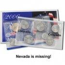 2006 Mint Set Error - Double Colorado P - No Nevada P