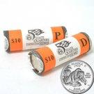 2008 Alaska Quarters - Government Wrapped - Philadelphia & Denver Mint Roll Pair