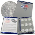 Silver Eagle Collection - 1986 - 2009 with US Mint Album