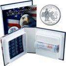 2000 US Mint Licensed Album - Massachusetts Quarter Roll - Denver
