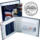 2007 US Mint Licensed Album - Washington Quarter Roll - Denver