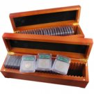 1999 to 2008 50 State Quarter Proof SILVER Set - Certified 70 ICG (Wooden Box)