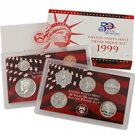 1999 US Silver Proof Set - Modern (9 pc)