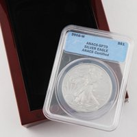 2008 Silver Eagle - West Point - Burnished - ANACS 70