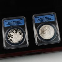 2010 Boy Scouts Commemorative Silver Dollar Pair Certified ANACS 70 - Proof & Uncirculated