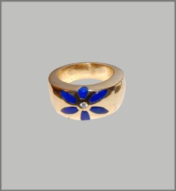 Lapislazuli Gold Ring