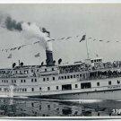 Plymouth Sidewheel Passenger Steamship Vintage Real-Photo PC
